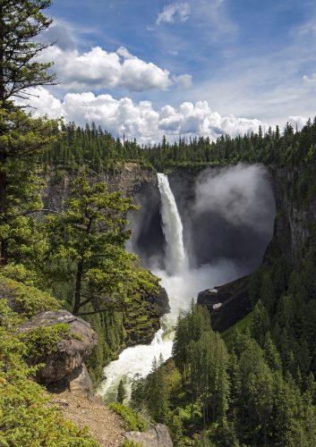 Helcken Falls in beautiful Wells Gray Provincial Park, near Clearwater, British Columbia, Thompson Okanagan region, Canada