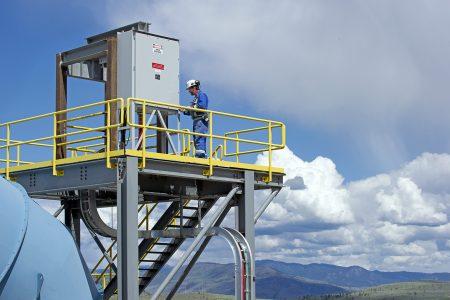 Electrical maintenance at New Gold mine, Kamloops, Thompson Okanagan region, British Columbia, Canada
