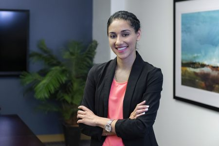 portrait of a business woman at RBC board room, Kamloops, British Columbia, Canada