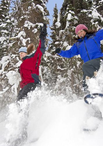 Snowshoeing near Sun Peaks, Kamloops, British Columbia, Canada