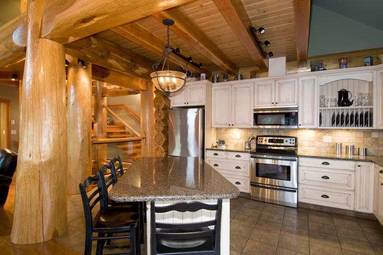 Kitchen shot for a home builder near Kamloops, BC