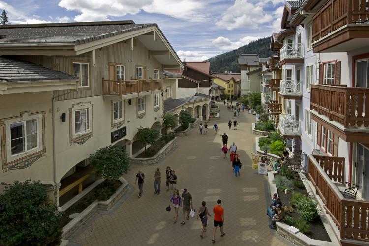 Sun Peaks village, BC