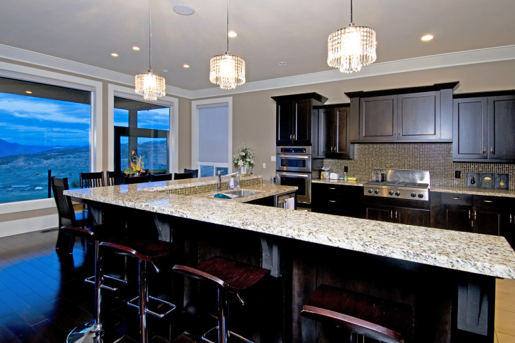 Kitchen of a home builder