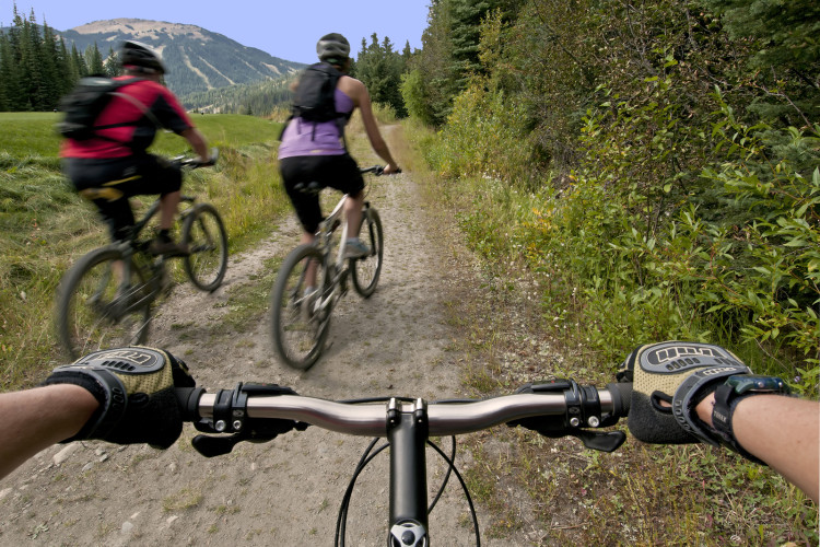 Mountain Biking at Sun Peaks, BC, Canada