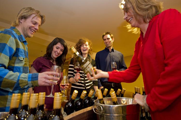 Wine tasting, Sun Peaks, BC, Canada, Thompson Okanagan region