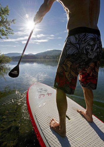 Stand up paddleboard, Heffley lake, BC