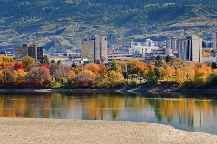 City of Kamloops in the fall, Thompson Okanagan region, BC, Canada
