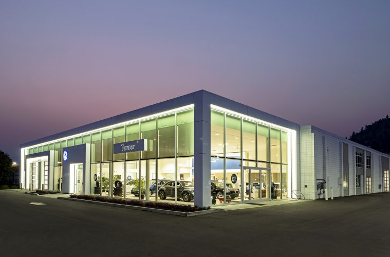 turner Volkswagen in Kelowna, shot during an architectural shoot for a Kelowna firm, British Columbia, Canada
