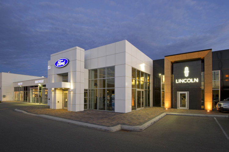 Architecture, Ford, Canada, Kamloops, British Columbia. dusk