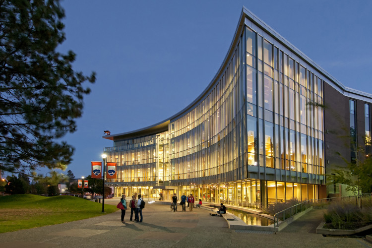 House of Learning building at Thompson Rivers University, Kamloops, BC