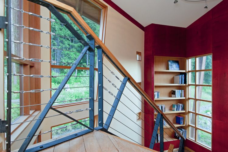 contemporary staircase design by a British Columbia Architect at Sun Peaks, BC, Canada