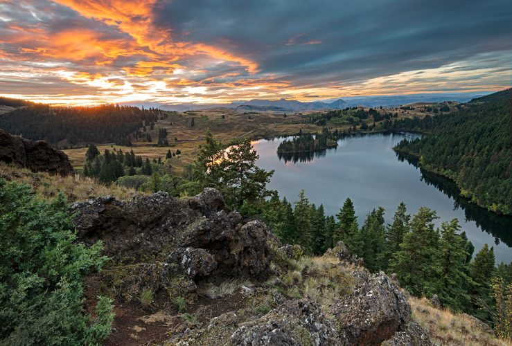 Lac Du Bois in the protected Lac Du Bois Grasslands during a commercial shoot near Kamloops, Thompson Okanagan region, British Columbia, Canada