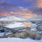 Kamloops, British Columbia, Canada, winter day, snow, cold, sunrise, Kelly Funk, commercial photographer, photography, professional