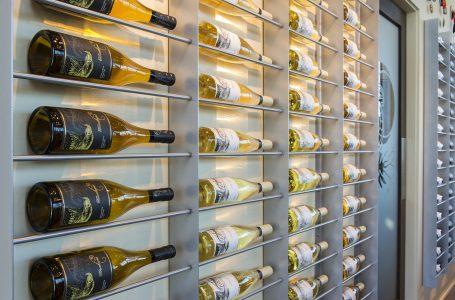 Wine bottles from a winery in Kelowna, British Columbia, Thompson Okanagan, Canada