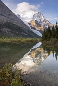 Hitting the trail at Robson Pass Campground, Berg Lake, Mt. Robson, Canadian Rockies, British Columbia