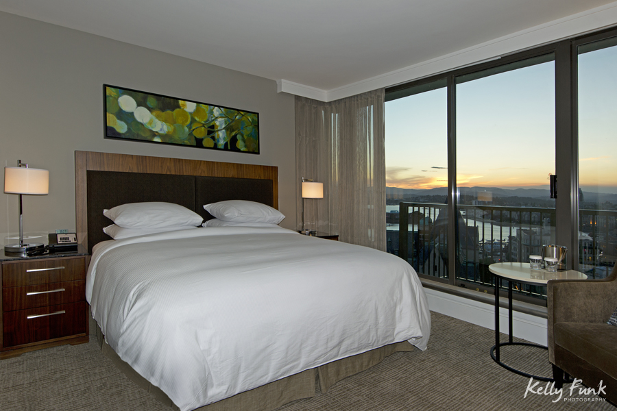Ocean side room with view, working for Double Tree Hilton, commercial photographer, Kamloops photographer, professional, promotional, Kelly Funk, British Columbia, Canada