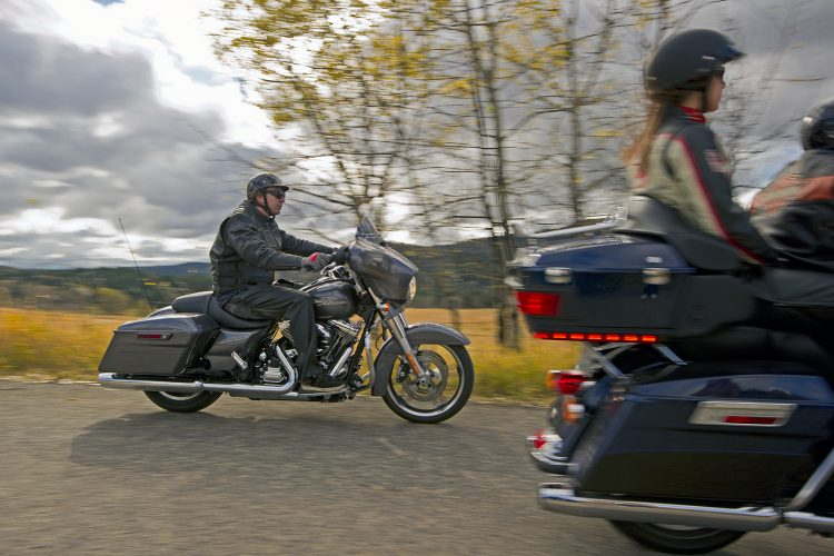 Advertising shoot for Kamloops Harley Davidson motorcycles, Kamloops, British Columbia, Thompson Okanagan region, Canada