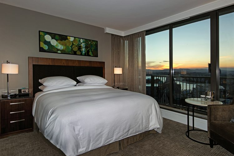 Commercial image of a ocean side room at the Hilton in Victoria, British Columbia, Canada