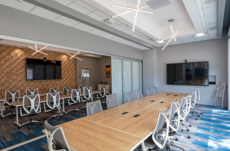 Commercial interior board room at KPMG in Kamloops, British Columbia, Canada