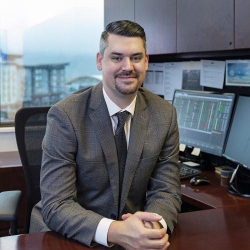 Business portrait of Rhys, financial consultant for RBC, Kamloops, British Columbia, Canada