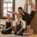 Yoga practise at the Yoga Loft, Kamloops, British Columbia, Canada