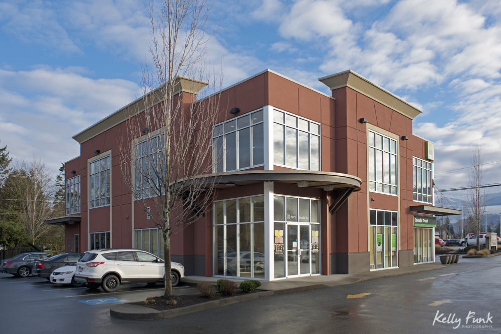 Commercial photography session and architecture of the main building at a clinic in Chilliwack, British Columbia, Canada, Vancouver region
