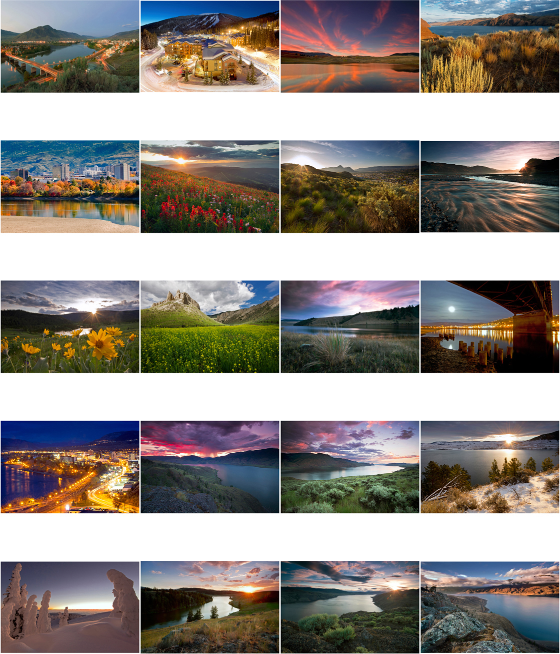 Kamloops and area city and landscape prints for commercial use in the form of web, brochure, print or multi-media.