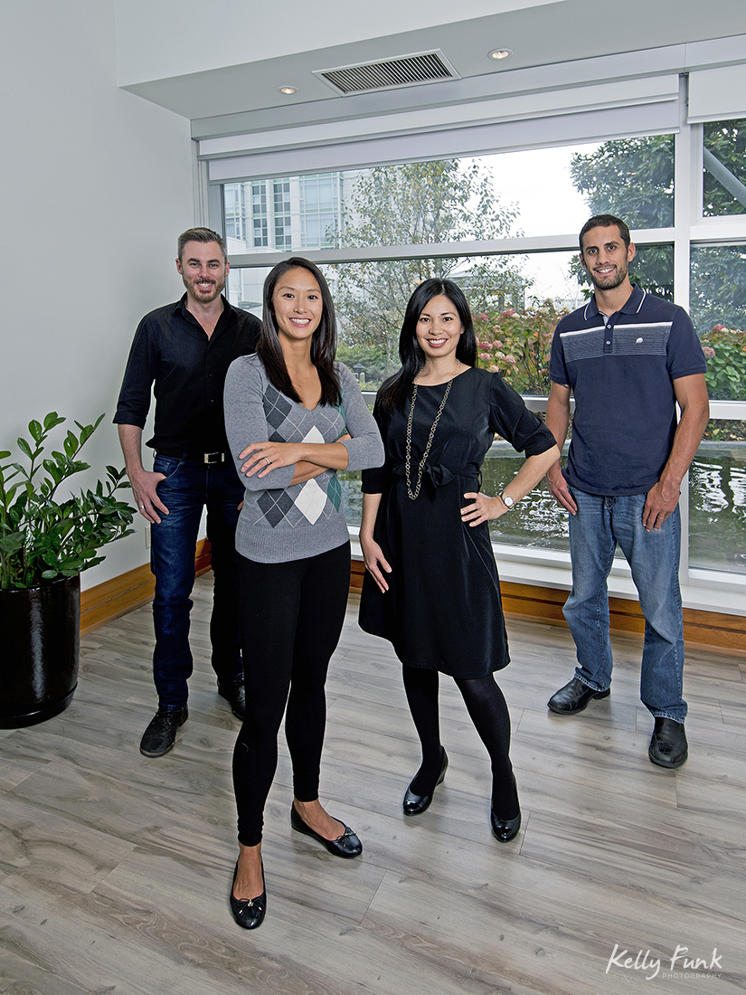 Staff and head shot shoot of a chiropractic office in Vancouver, British Columbia, Canada