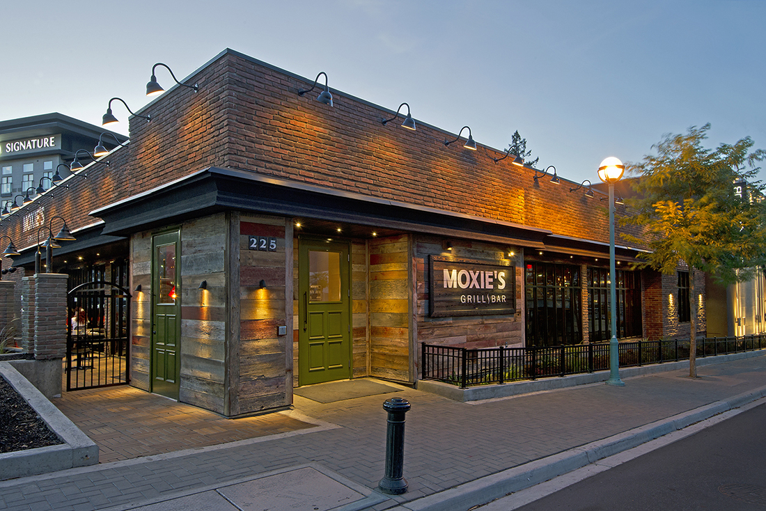 Architecture image of Moxie's restaurant in Kamloops, British Columbia, Thompson Okanagan region, Canada