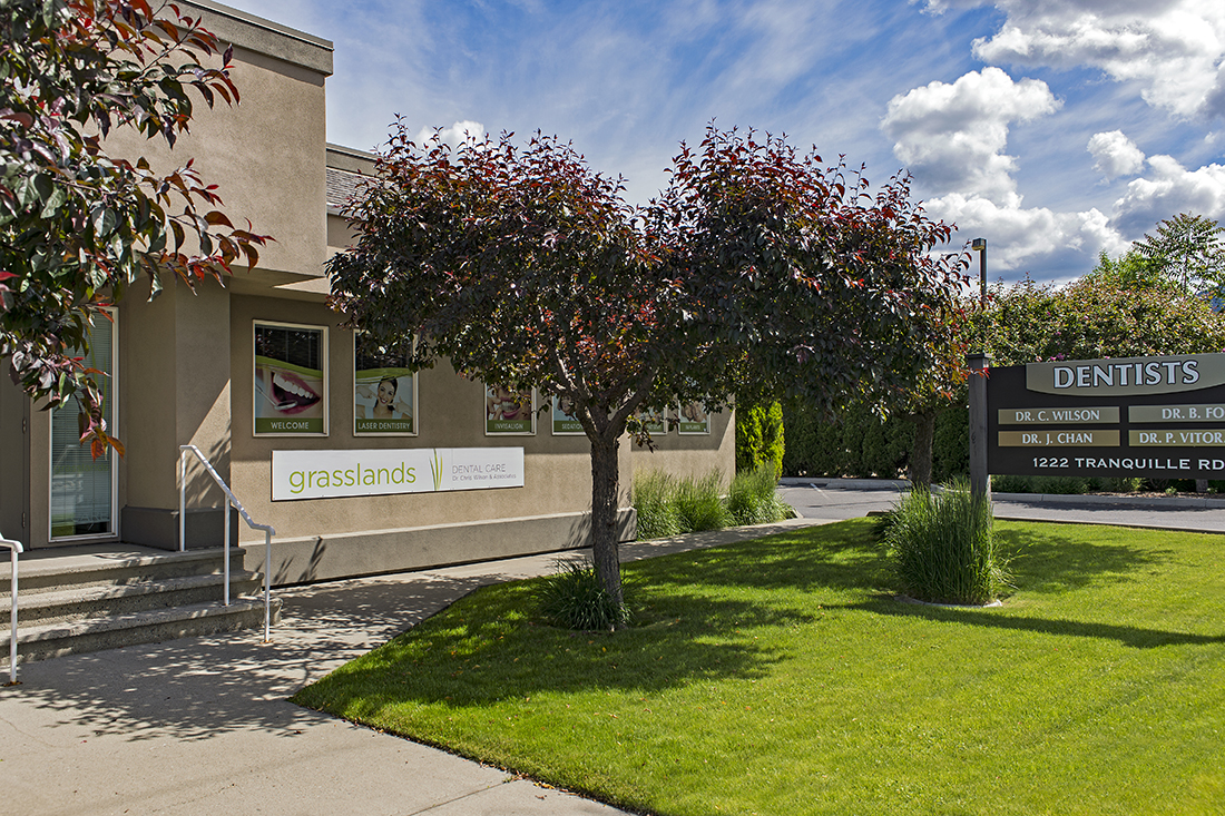 outside facade of a dentist's office in Kamloops, British Columbia, Thompson Okanagan area, Canada
