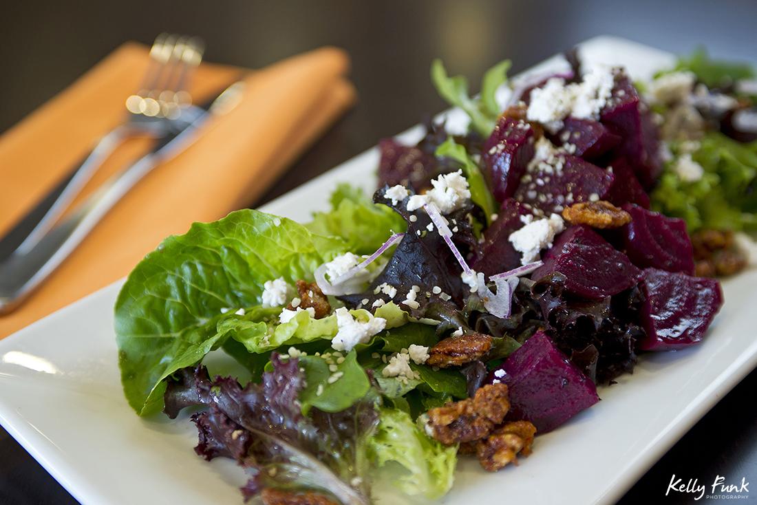 A beautiful beet salad from the Doubletree Hilton, Kamloops, Thompson Okanagan region, British Columbia, Canada