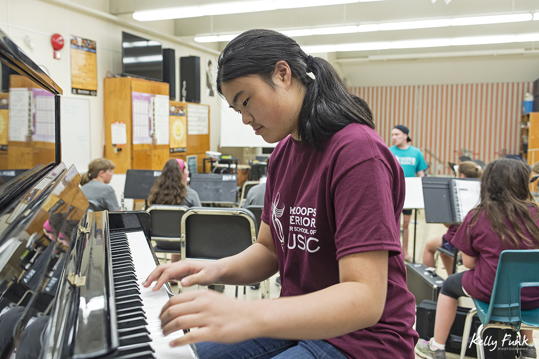 kids practicing and enjoying summer school of music in Kamloops, British Columbia, Canada
