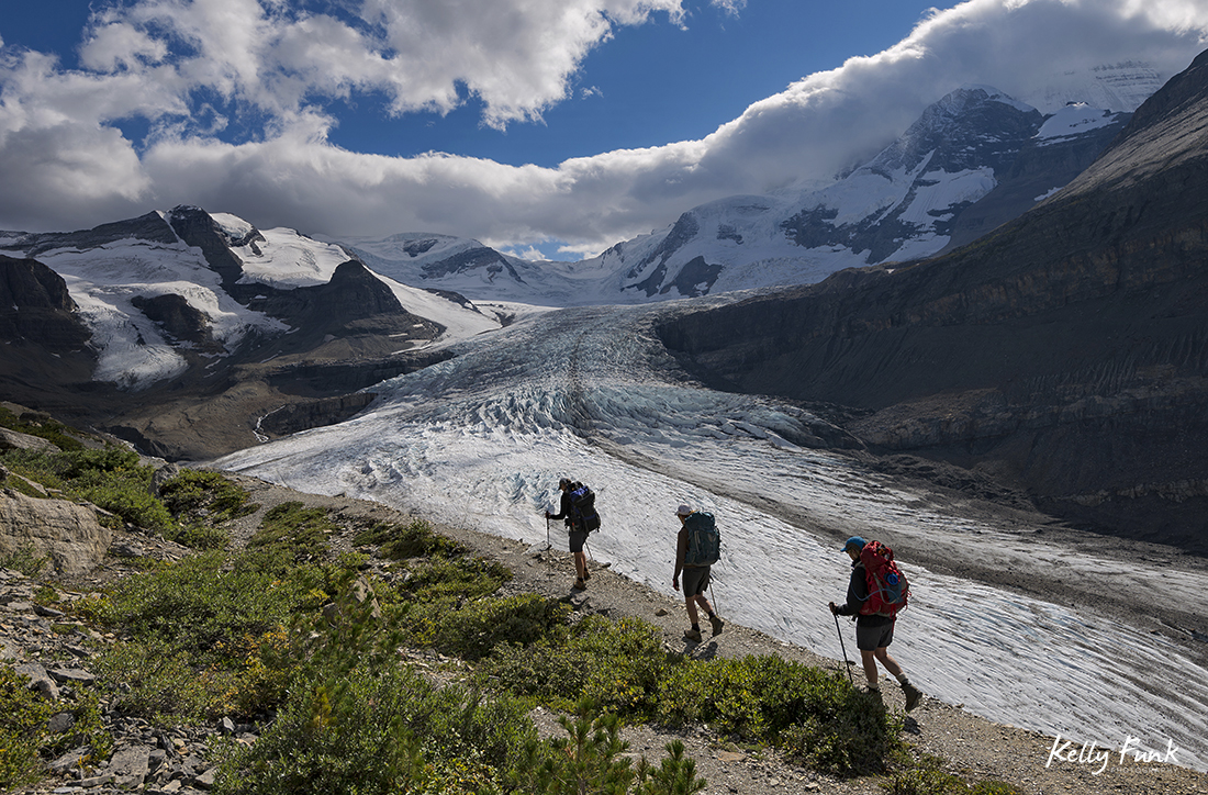 Exploring the Robson Glacier in the Canadian Rocky Mountains, British Columbia, Canada