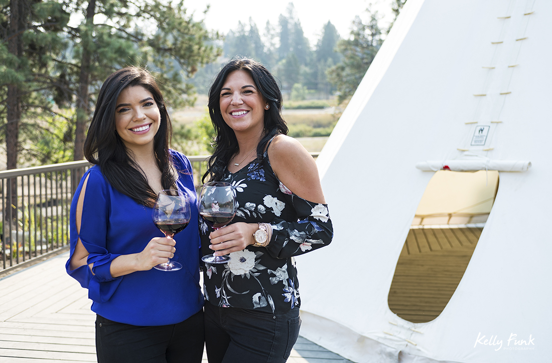 Sister's at the Winery of Kelowna's Indigenous World Winery during a commercial shoot, British Columbia, Canada