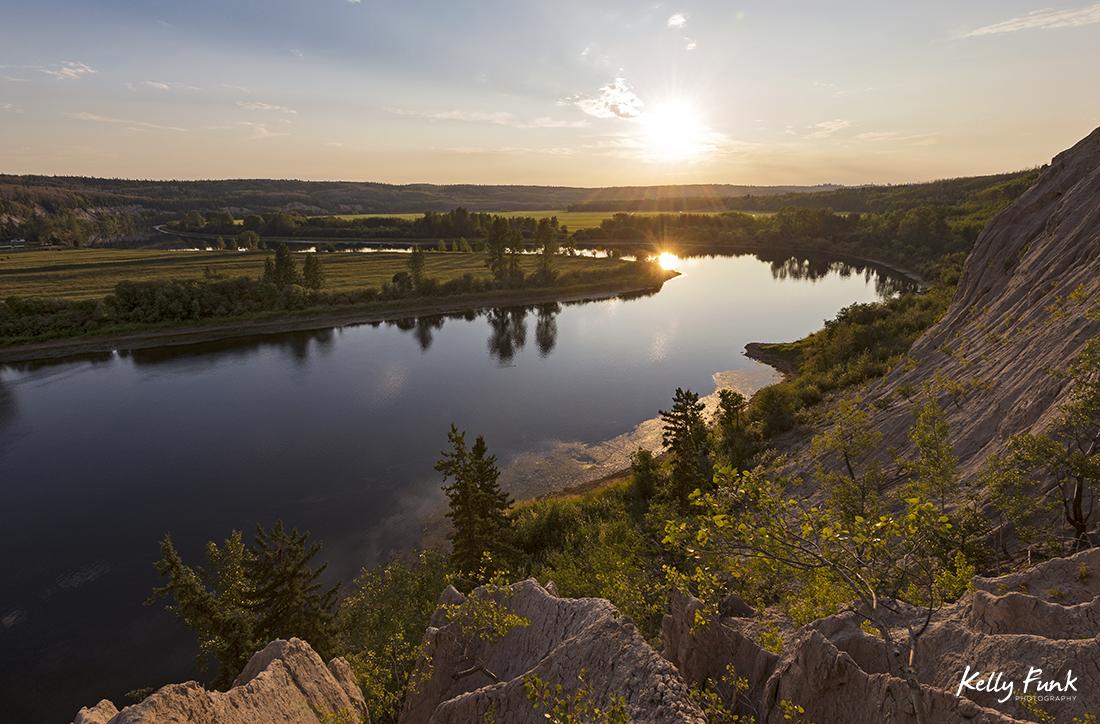 The Nechako River at sunset just east of Vanderhoof, British Columbia, Canada
