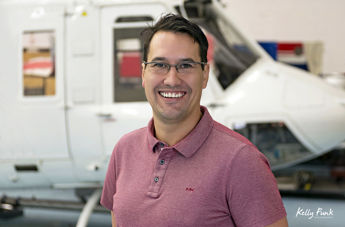 The quality/SMS Manager of Summit Helicopters, Kamloops, British Columbia, Thompson Okanagan region, Canada