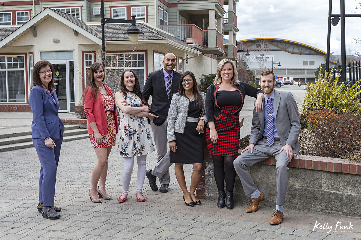 Partners, associates and staff of Chahal and Priddle LLP during a commercial branding shoot in Kamloops, British Columbia, Canada