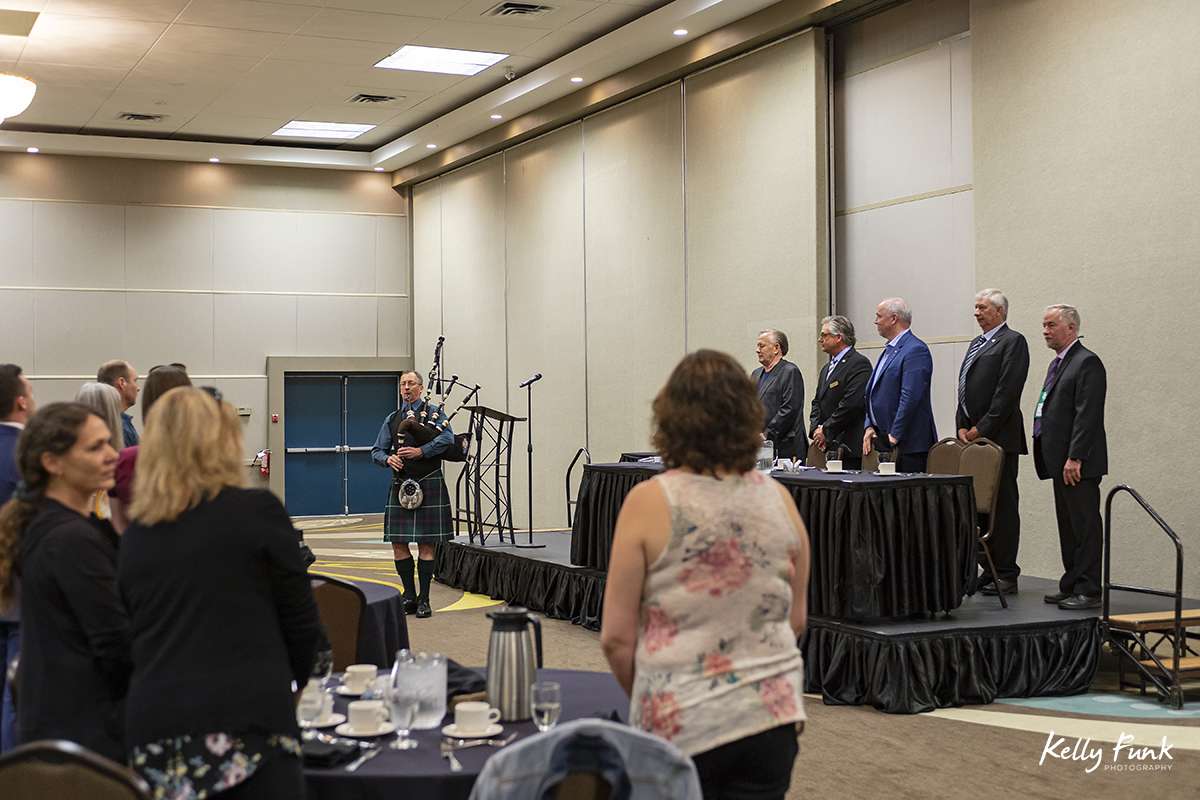 The Premier, John Horgan, giving a speech at the 2018 BC Interior Logging Association convention