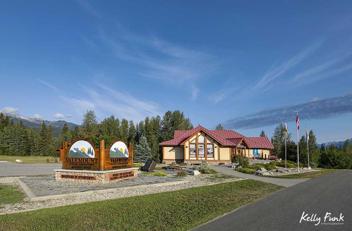 Village of Valemount and Tourism Valemount building, British Columbia, Canada