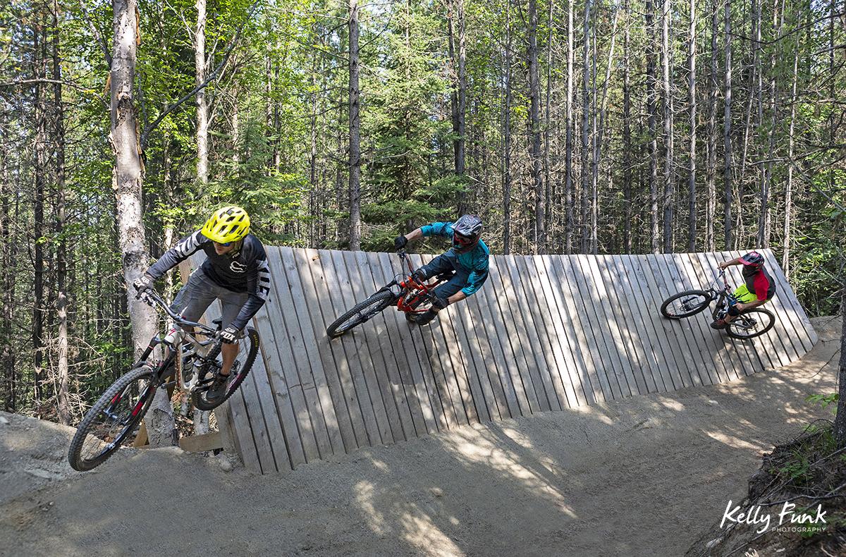 Riding the wall, Valemount, British Columbia, Canada