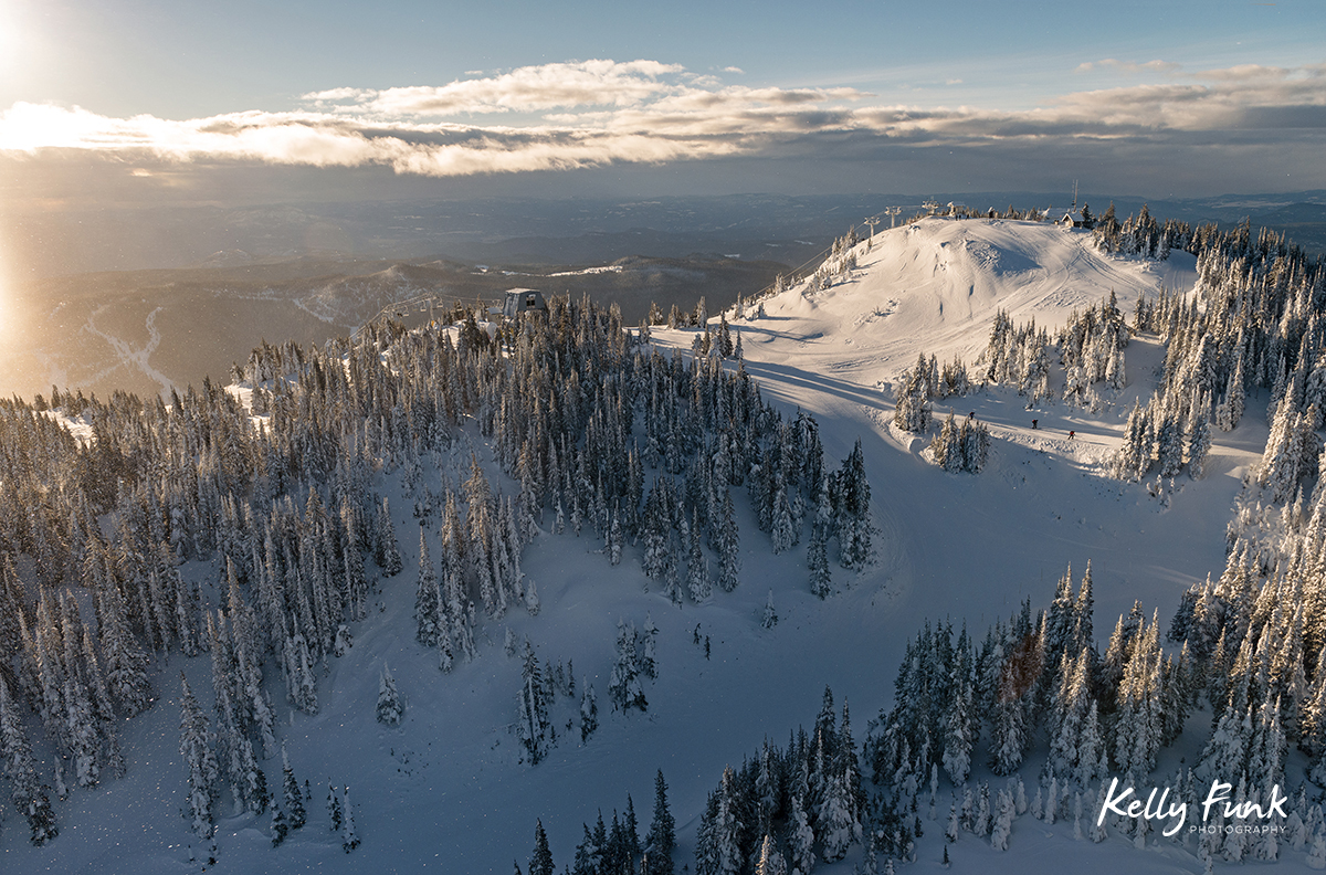 aerial imagery for Sun Peaks corporation, Kamloops, British Columbia, Canada