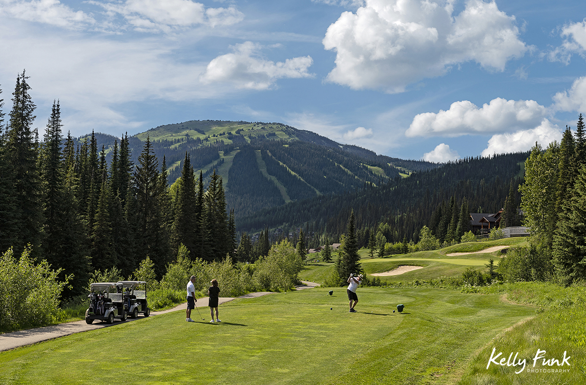 Golf shoot for Sun Peaks Resort, British Columbia, Canada