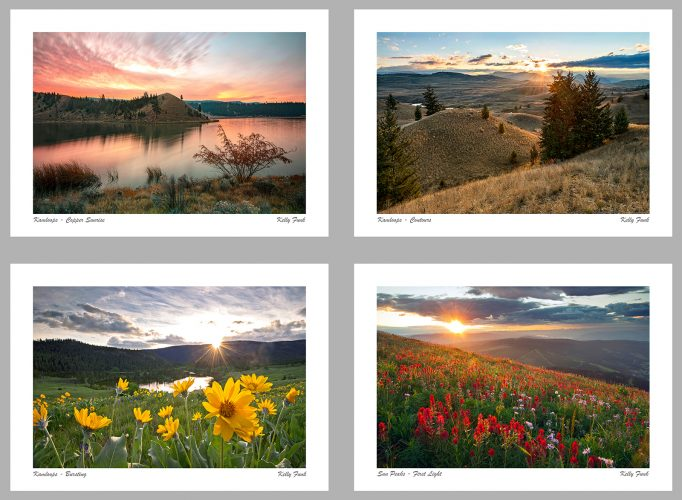 Examples of the Kamloops, Sun Peaks and Wells Gray corporate and commercial custom greeting cards, British Columbia, Canada