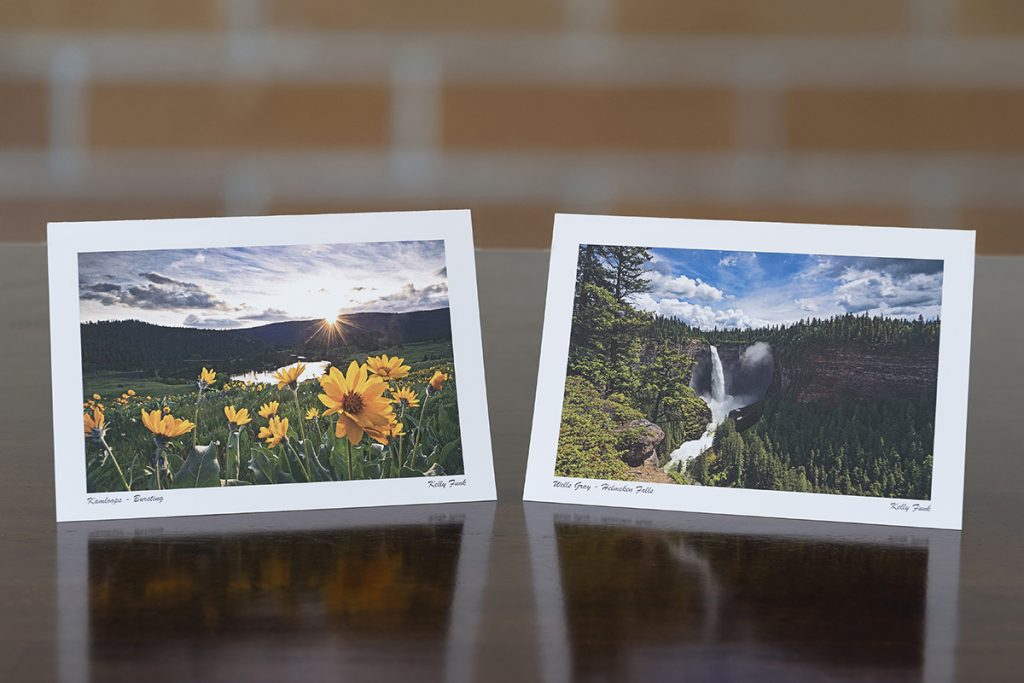 Kamloops commercial and corporate customized greeting cards, including Kamloops, Sun Peaks and Wells Gray, British Columbia, Canada