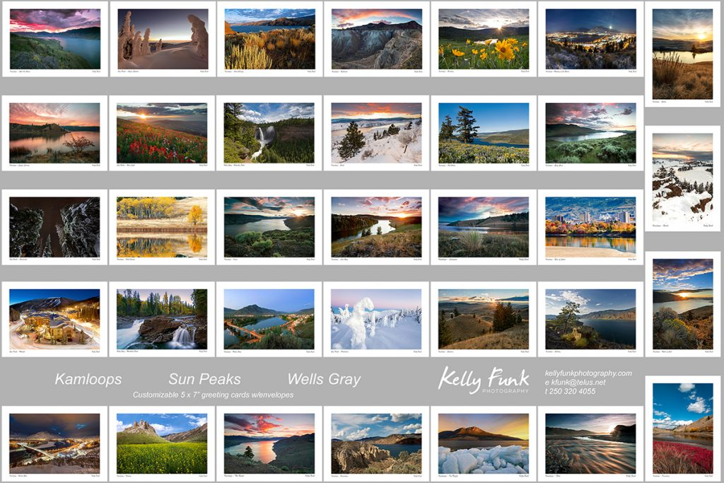 Kamloops commercial and corporate greeting cards examples for Excel Industries, British Columbia, Canada