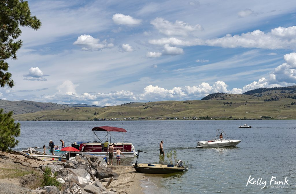 Summer activity at Nicola lake, near Merritt, British Columbia, Canada