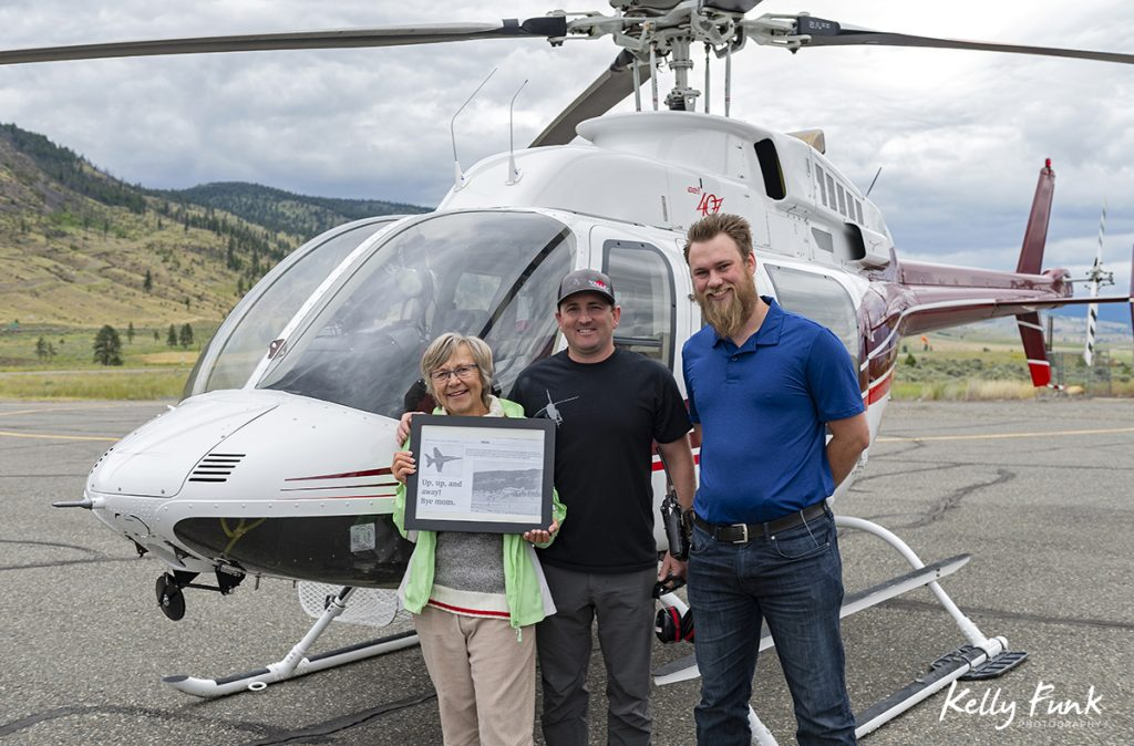 Helicopter rides at the Merritt airport, British Columbia, Thompson Nicola region, Canada