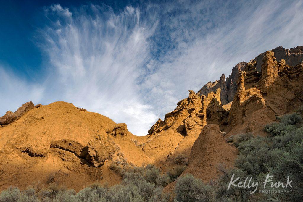 Cinammon Ridge or Mara loop trail, during a commercial shoot, Kamloops, British Columbia, Thompson Okanagan region, Canada