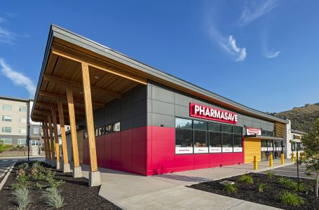 The new Pharmasave structure in Kamloops photographed for GTA Architecture, Kelowna, British Columbia, Canada