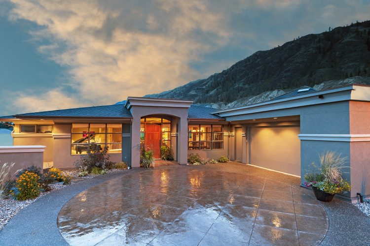 Beautiful home photographed for a Kamloops architecture firm, British Columbia, Canada